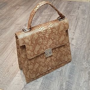 Trove Business Lady Snakeskin Organizer Handbag